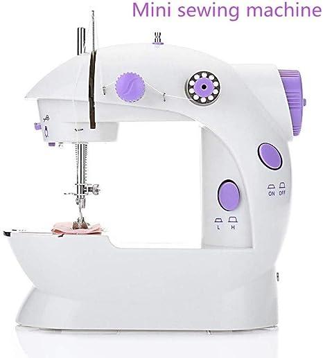 Yuaer Máquina de coser pequeña Máquina de coser portátil con mesa ...