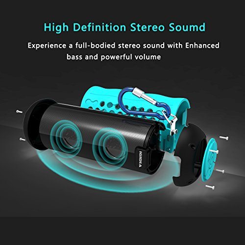 IGIDIA IPX5 Waterproof Portable Bluetooth Speakers, Outdoor/Shower Wireless Speaker with Enhanced Bass(Blue)