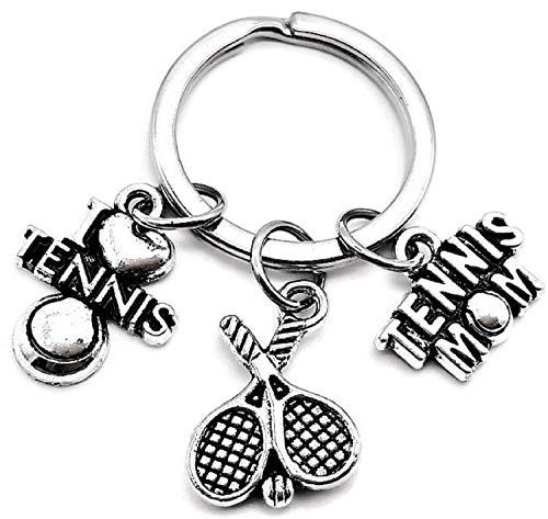 Tennis Mom Keychain, Tennis Keychain, Tennis Racket Keychain, I Love Tennis Keychain, Sports Keychain, Tennis Charm Keychain, Gift for Tennis Mom, Tennis Key Ring, Tennis Mom Key Ring