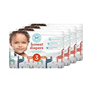 Honest Baby Diapers, Multi Colored Giraffes, Size 3, 136 Count