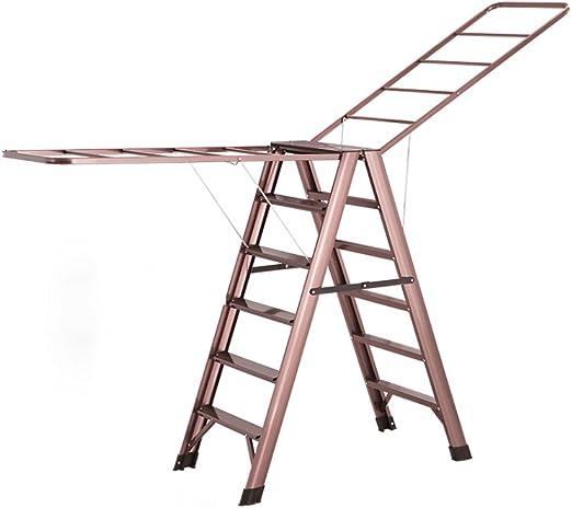 ZhuFengshop Tendedero de lavandería Escalera de Secado Rack Tipo de ala de Aluminio Plegable Escalera Ropa Airer - Escalera de 5 Pasos/Escalera de 6 Pasos/Ahorre Espacio Secadora de Ropa, lavadero: Amazon.es: Hogar