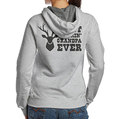 Women TeeStars - Best Buckin Grandpa Ever - Funny Hunting Gift For Hiking Vintage Hoodie Sweatshirt Size XL - Hallmark Indianapolis