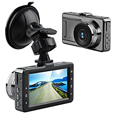 AKASO D2000 Dash Camera FHD 1080P Dash Cam 3 Inch Screen Car Camera with Sony Sensor 170 Degree Wide Angle with G-Sensor, Parking Monitor, WDR, Loop Recording by Akaso