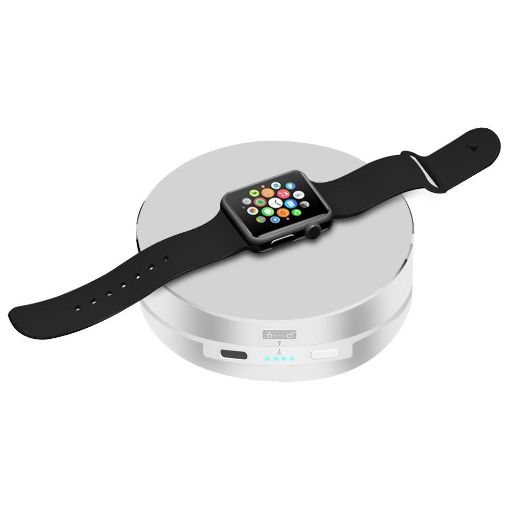 Archeer Cargador Portátil para Apple Watch , 1500mAh Ultra Compacto OTG Base de Carga Apple Watch Charger con Batería Externa para Apple Watch Básico ...