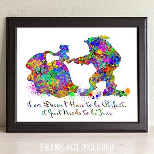 Beauty Splatter Watercolor Art Plaque product image