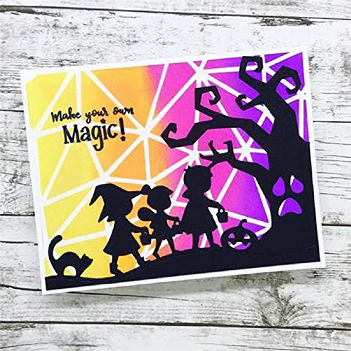 The Making Of Halloween 2019 (WAROIS Halloween Cute Characters Creative Cutting Card Dies New 2019 Scrapbooking Dies Metal DIY Card Decor)