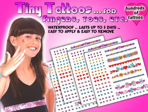Tiny Tattoosfor Fingers Toesears Etc by Dazzling Products For Kids