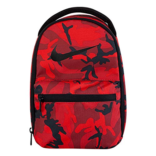NIKE Children's Apparel Kids' Little Front Zip Fuel Pack, Red crush, O/S