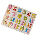 Best dazzling toys Kids Birthday Gifts - MagiDeal Kids Early Learning Wooden Numbers Pattern Peg Review
