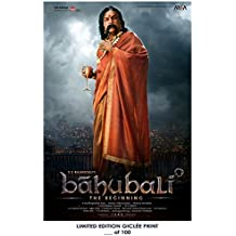 RARE POSTER thick BAAHUBALI: THE BEGINNING bahubali 2015 bollywood REPRINT #'d/100!! 12x18