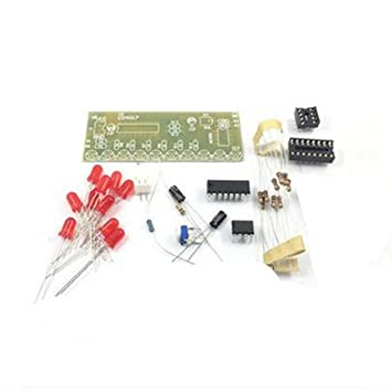 MagiDeal Placa de circuito Kit de bricolaje NE555 + CD4017 10 CH de LED Luz de Agua Electrónica: Amazon.es: Electrónica