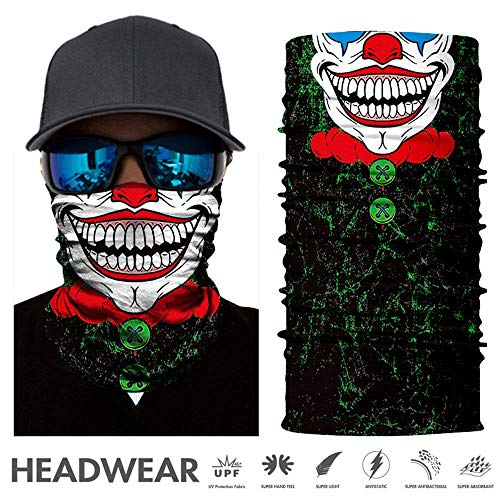 TEFITI Versatile Face Masks Casual Balaclava Headwear Stretchable Bandana Headbands Wind/Sun/UV Protection for Cycling,Motorcycling,Fishing,Hunting,Hiking,Yard Working and Other (AC-2017142)]()