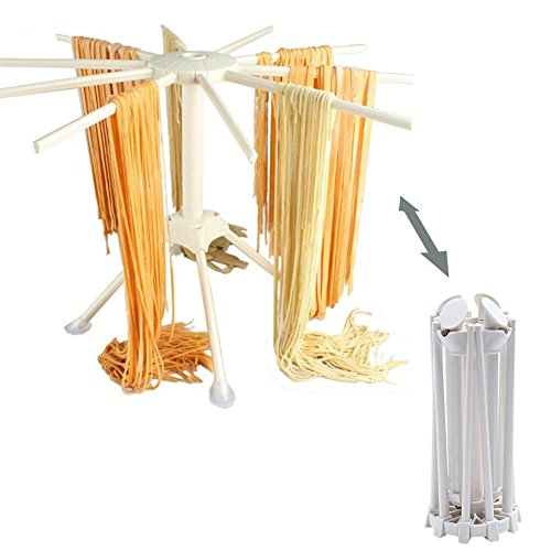 Yookay Plastic Pasta Drying Rack Collapsible,Fresh Pasta Maker Spaghetti Dryer Stand Noodle Drying Holder