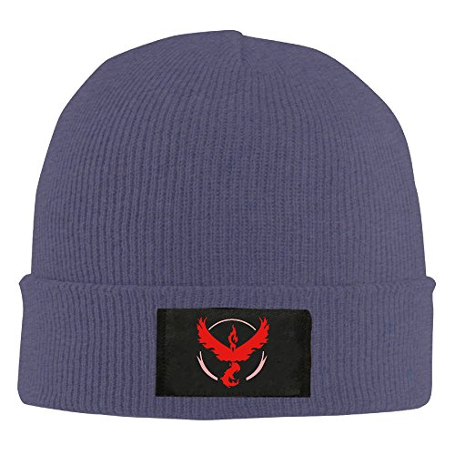 Pokemon Go Team Valor Logo Moltres Beanie Hats For Men Women Navy  4 Colors