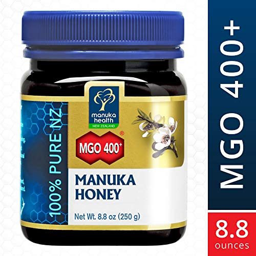 Four Teaspoon - MANUKA HEALTH - MGO 400+ Manuka Honey, 100% Pure New Zealand Honey, 8.8 oz (250 g) (FFP)