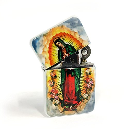 Mexico Usa Cigars - Our Lady Guadalupe flip lighter
