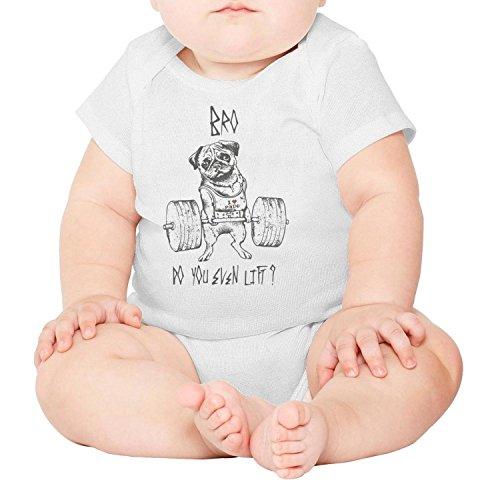 Bodybuilding I Love Pain French Bulldog Tattoo Cool Design Baby Girl boy Newborn Clothes