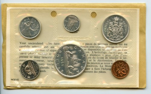 1965 Canadian Proof Like Set .800 Fine Silver Canadian Mint Coin Set