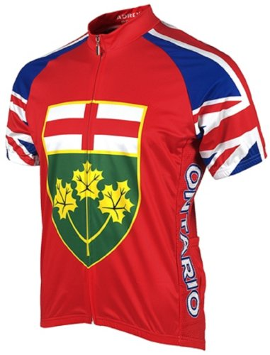 Adrenaline Promotions Canadian Provinces Ontario Cycling Jersey, Multi, -