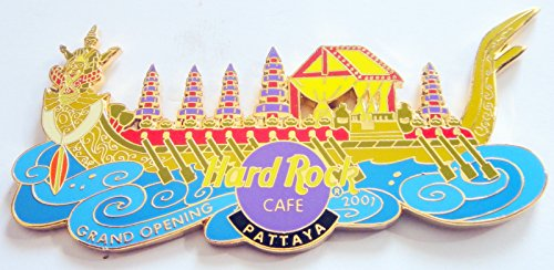 (2001 Grand Opening Ship Thai Royal Barge Pin Hard Rock Café Pattaya Thailand )