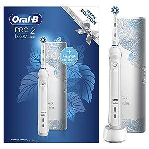 Oral-B Pro 2 2500 Design Edition Spazzolino Elettrico Ricaricabile, 2 Modalità di Spazzolamento, Custodia da Viaggio…