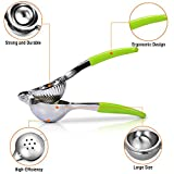 Premium Quality Lemon Squeezer with Silicone Handles (Green) - Manual Citrus Press for Kitchen or Bar - Lemon Lime Fruit Juicer - Citrus Crush by Barclay's Buys