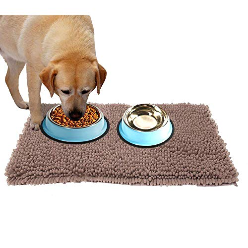 Ultra Absorbent Dog Door Mat for Dirty Dog, Microfiber Mat for Food and Water Bowle, Exrta Thick Pet Bed and Kennel Pad…