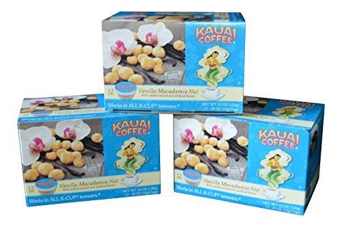 Kauai Coffee, Vanilla Macadamia Nut (Pack of 3) ()