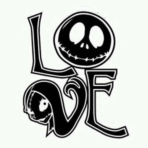 Jack skellington and Sally, Nightmare Before Christmas, Love, Wall art, home, Die cut vinyl decal for windows, cars, trucks, tool boxes, laptops, MacBook - virtually any hard, smooth surface
