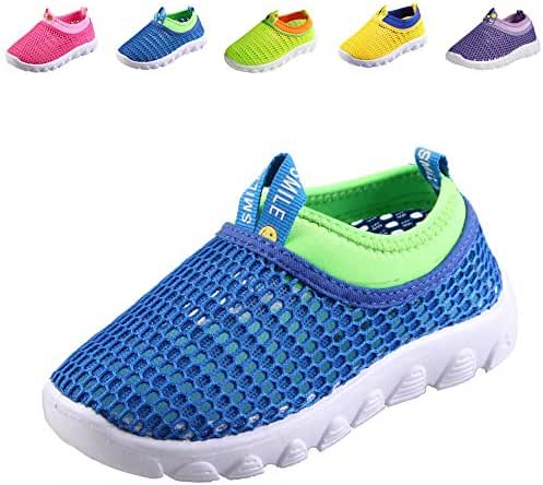 CIOR Kids Light Weight Sneakers AquaShoes Breathable Slip-on For Running Pool Beach Toddler / Little Kid