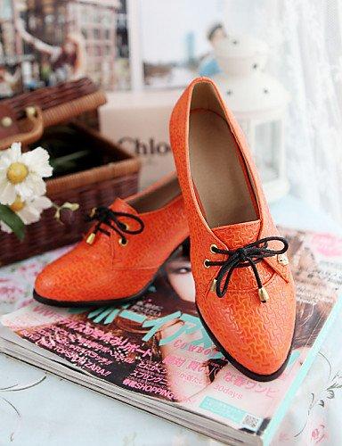 Bureau amp; Extérieure Richelieu 5 Beige Femme Orange Pointu Njx us5 Chaussures 5 Noir Confort Travail Uk3 Gros Habillé Black Bout Talon Cn35 Eu36 ZIwgxtqxE