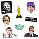 Daft Office Sticker Pack Prison Mike Dundie Chili