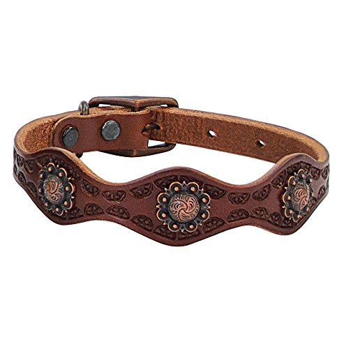 Weaver Leather Sundance Dog Collar, 1 x 19-Inch, Brown