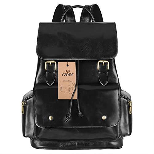 S ZONE Womens Genuine Leather Backpack