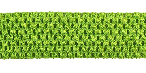 Belagio Enterprises 2-inch Crochet Headband Trim 25 Yards, Mint Green