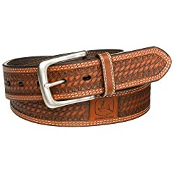 John Deere Men's 38mm Belt,Tan,34