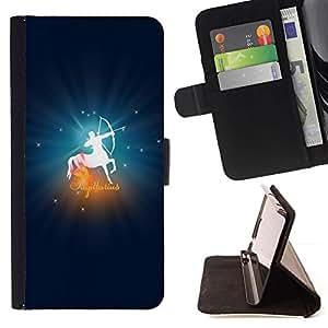 DEVIL CASE - FOR Apple Iphone 6 PLUS 5.5 - Sagittarius Zodiac Sign - Style PU Leather Case Wallet Flip Stand Flap Closure Cover