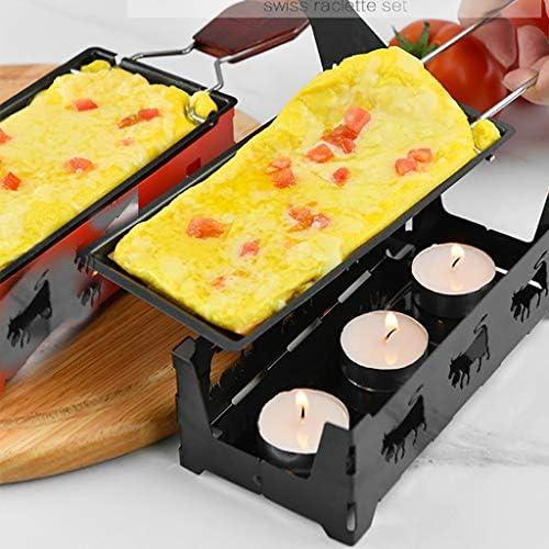 Liqiqi Poêle à Fromage Anti-adhésive – Portable Four Barbecue Fonte Acier au Carbone Cuisine Ustensiles de Cuisine