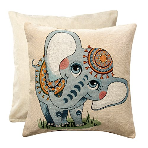 Hebe Pillowcase Covers 18*18 Inches Lovely Cute Elephant Pat