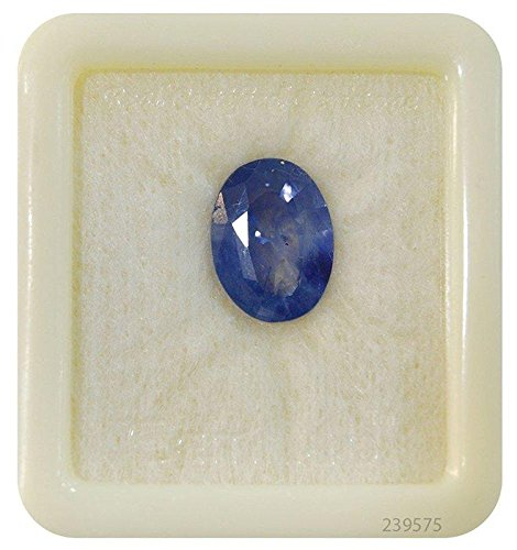 (Getgemstones Natural Blue Sapphire Gemstone Certified Loose Precious Stone 7.4 Carat)