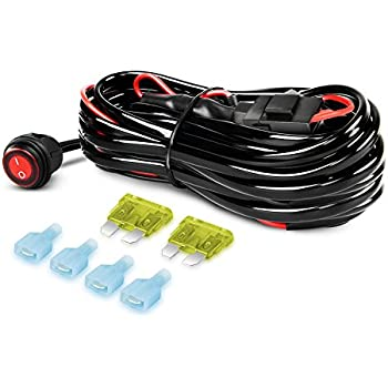 512jy%2BSqGzL._SL500_AC_SS350_ amazon com gooacc off road led light bar wiring harness kit 12v off road wiring harness at mifinder.co