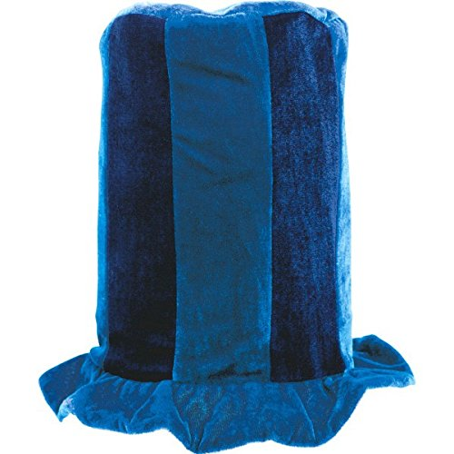 Amscan Party Ready Team Spirit Tall Top Hat, Blue, 16.7 x - Hat English Tall