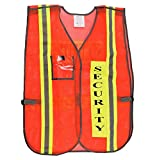 Security Safety Vest with Reflective Strips, One Size Fits All (1-pc, Neon Orange)
