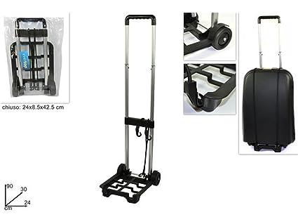 vetrineinrete® Carro Porta Maleta plegable y plegable Puerta embalaje Manual para transporte público portavaligie con