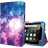 Ztotop Folio Case for Amazon Fire HD 8 Tablet (8th/7th Generation,2018 and 2017 Release) - Smart Leather Cover Slim Folding Stand Case with Auto Wake/Sleep for Fire HD 8 Tablet,Galaxy