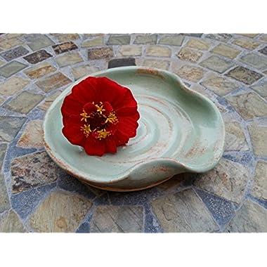 Ceramic Spoon Rest in Pistachio Green