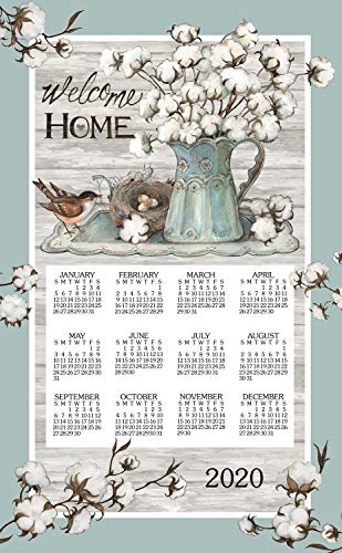 Kay Dee 2020 Linen Calendar Towel - Cottonwood ()