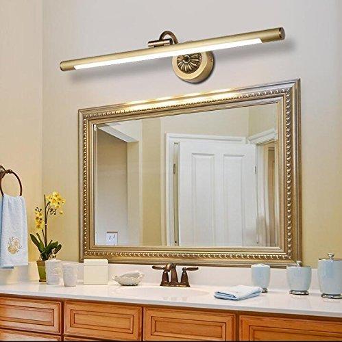 Volle Kupfer Spiegel Vordere Lampe Retro Europäischen Spiegel Badezimmer Badezimmer Badezimmer Spiegel Lampe Wasserdicht Led Kosmetik Lampe (Farbe  Kupfer Groß (75 Cm) 15 W)