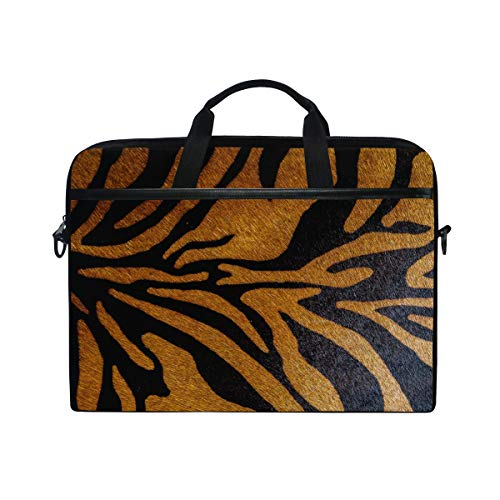 Tiger Macbook Laptops - TropicalLife Laptop Bag Animal Tiger Leopard Print Lightweight Briefcase Shoulder Messenger Bag Laptop Case Sleeve for 11.6-15 inch MacBook Pro, MacBook Air Laptop and Tablet