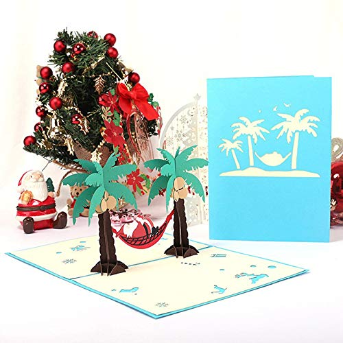 Cards & Invitations - 1pc 3d Pop Up Christmas Gift Greeting Card Santa Claus Merry Year Party Invitation Paper With - Custom Birthday Card 3d Card Halloween Braid 3d White Card 1 Postcard 3d -